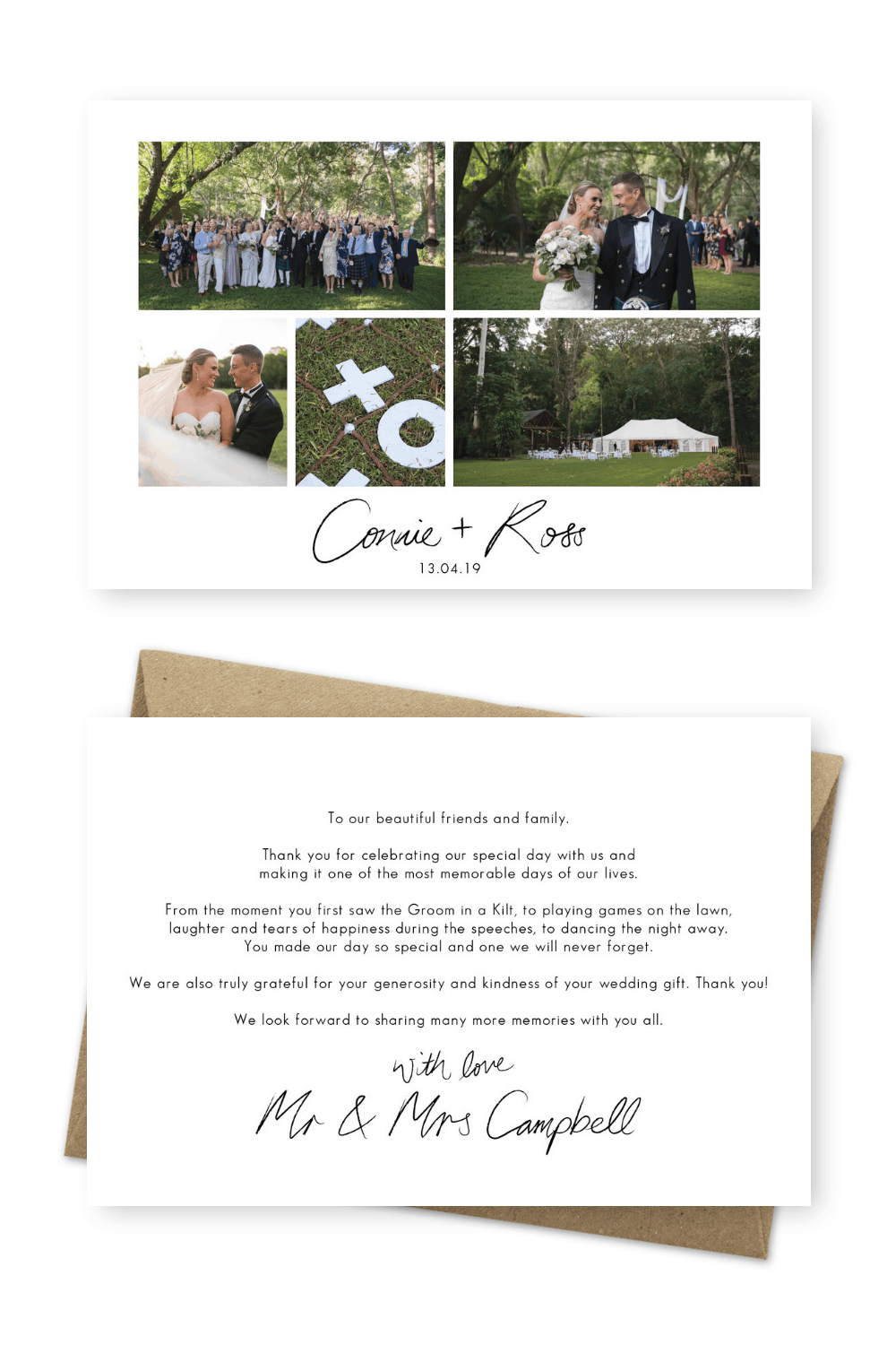 7 Wording Ideas For Your Wedding Thank